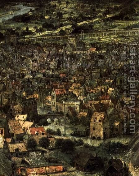 The Tower of Babel (detail) 1563 3 by Jan The Elder Brueghel - Reproduction Oil Painting