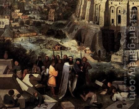 The Tower of Babel (detail) 1563 4 by Jan The Elder Brueghel - Reproduction Oil Painting