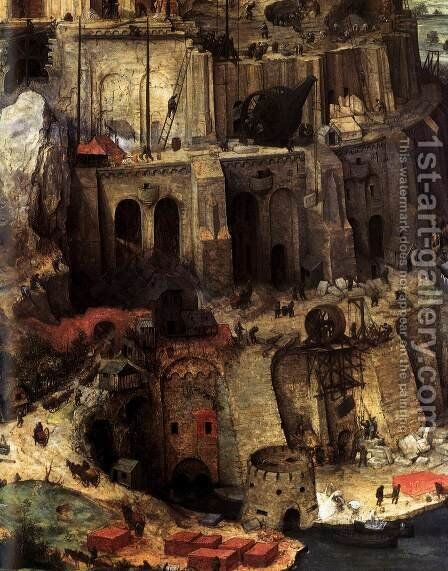 The Tower of Babel (detail) 1563 5 by Jan The Elder Brueghel - Reproduction Oil Painting
