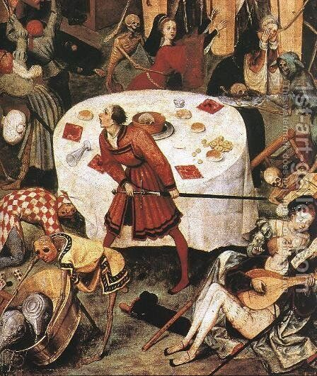 The Triumph of Death (detail) 1562 by Jan The Elder Brueghel - Reproduction Oil Painting