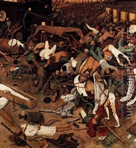 The Triumph of Death (detail) 1562 5 by Jan The Elder Brueghel - Reproduction Oil Painting