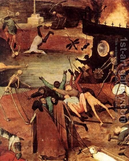 The Triumph of Death (detail) 1562 8 by Jan The Elder Brueghel - Reproduction Oil Painting