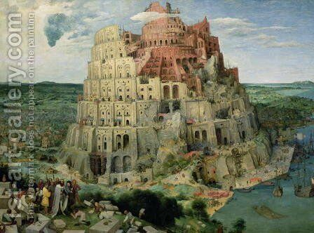Tower of Babel 1563 by Jan The Elder Brueghel - Reproduction Oil Painting