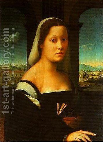 Portrait of a Woman (The Nun) by Giuliano Bugiardini - Reproduction Oil Painting