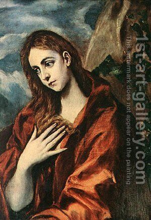 Penitent Magdalene 1585-90 by Sir Edward Coley Burne-Jones - Reproduction Oil Painting
