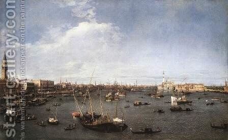 The Basin Of St Mark 1738-40 by (Giovanni Antonio Canal) Canaletto - Reproduction Oil Painting