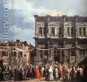 The Feast Day Of St Roch (Detail) C 1735 by (Giovanni Antonio Canal) Canaletto - Reproduction Oil Painting