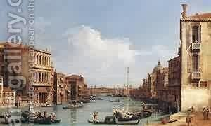 The Grand Canal From Campo S Vio Toward The Bacino 1729-34 by (Giovanni Antonio Canal) Canaletto - Reproduction Oil Painting