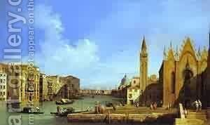 The Molo Looking East 1730 by (Giovanni Antonio Canal) Canaletto - Reproduction Oil Painting