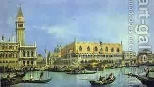 The Molo Seen From The Basin Of San Marco by (Giovanni Antonio Canal) Canaletto - Reproduction Oil Painting
