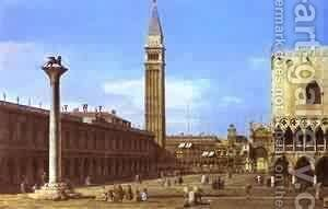 Venice The Piazzzetta Towards The Torre Delorologio 1743 by (Giovanni Antonio Canal) Canaletto - Reproduction Oil Painting