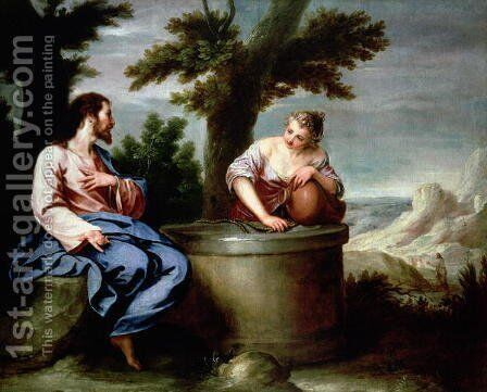 Jesus and the Samaritan Woman by Alonso Cano - Reproduction Oil Painting