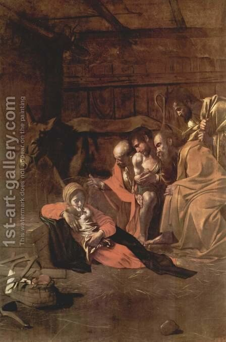 Adoration of the Shepherds by Caravaggio - Reproduction Oil Painting