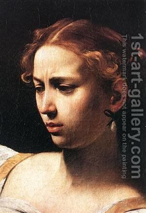 Caravaggio Judith Beheading Holofernes detail1 by Caravaggio - Reproduction Oil Painting