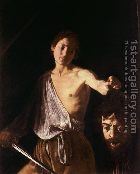 David 3 by Caravaggio - Reproduction Oil Painting