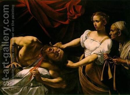 Judith Beheading Holofernes by Caravaggio - Reproduction Oil Painting