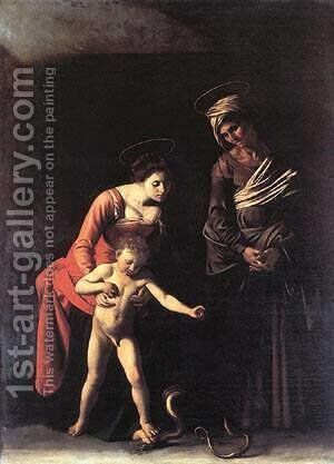 Madonna with the Serpent by Caravaggio - Reproduction Oil Painting