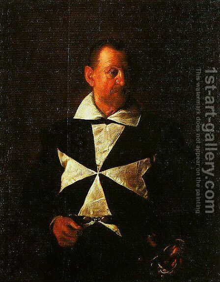 Portrait of a Knight of Malta by Caravaggio - Reproduction Oil Painting