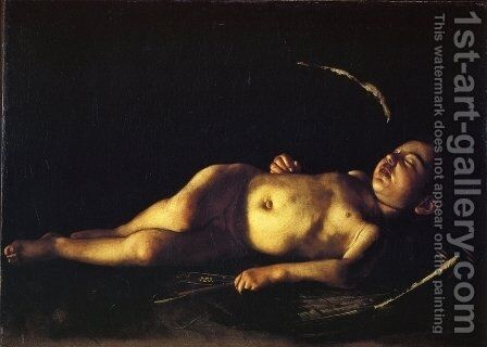 Sleeping Cupid by Caravaggio - Reproduction Oil Painting