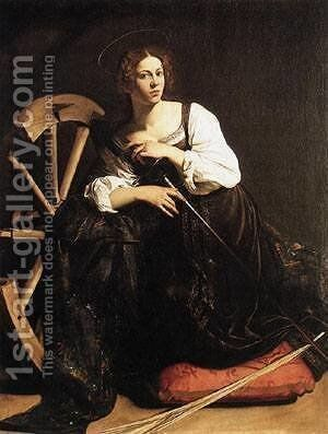 St Catherine of Alexandria by Caravaggio - Reproduction Oil Painting