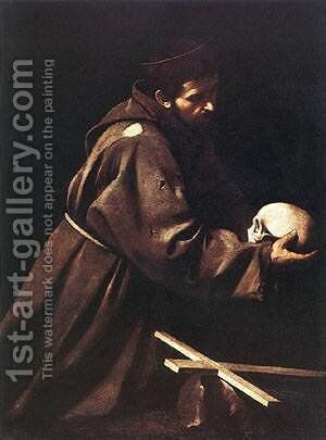 St Francis1 by Caravaggio - Reproduction Oil Painting