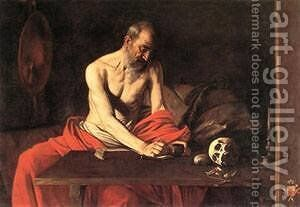 St Jerome by Caravaggio - Reproduction Oil Painting