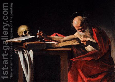 St Jerome2 by Caravaggio - Reproduction Oil Painting