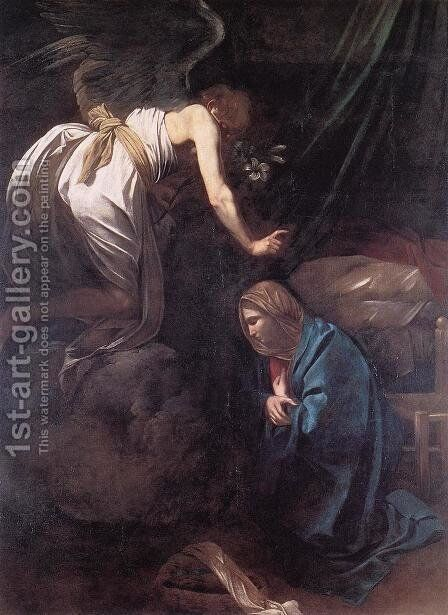 The Annunciation 2 by Caravaggio - Reproduction Oil Painting