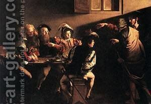 The Calling of Saint Matthew 3 by Caravaggio - Reproduction Oil Painting