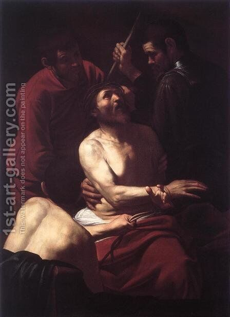 The Crowning with Thorns2 by Caravaggio - Reproduction Oil Painting