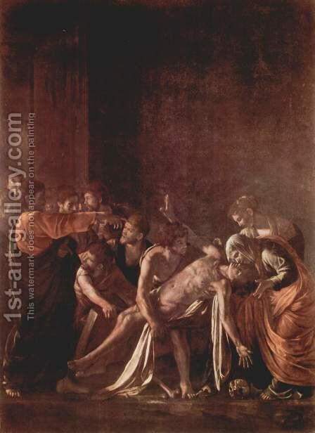 The Raising of Lazarus 2 by Caravaggio - Reproduction Oil Painting