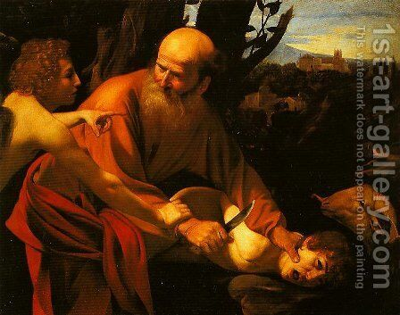 The Sarifice of Isaac by Caravaggio - Reproduction Oil Painting