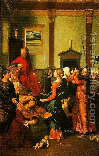 The Massacre of the Innocents by Giovanni Francesco Caroto - Reproduction Oil Painting