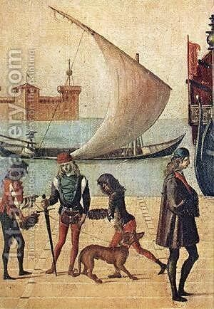 Carpaccio Arrival of the English Ambassadors detail5 by Vittore Carpaccio - Reproduction Oil Painting