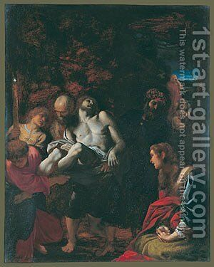 The Burial of Christ 1595 by Annibale Carracci - Reproduction Oil Painting