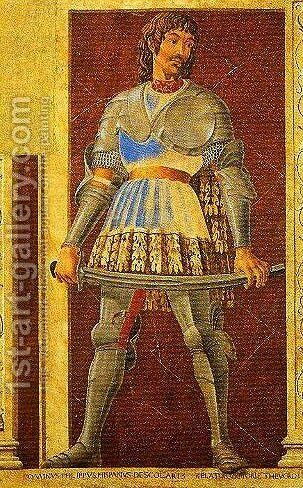 Pippo Spano by Andrea Del Castagno - Reproduction Oil Painting