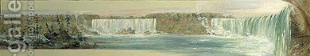 Niagara Falls 1827 1828 by George Catlin - Reproduction Oil Painting