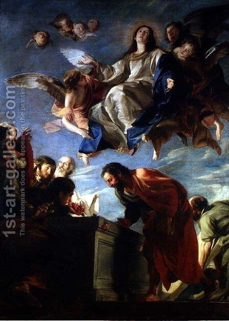 The Assumption of the Virgin 1673 by Mateo the Younger Cerezo - Reproduction Oil Painting