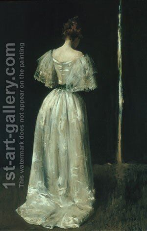 Seventeenth Century Lady 1895 by William Merritt Chase - Reproduction Oil Painting