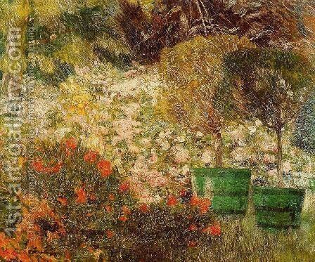 A Corner of My Garden 1901 by Emile Claus - Reproduction Oil Painting