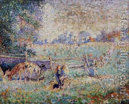 Cows in the Pasture by Emile Claus - Reproduction Oil Painting