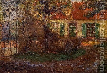 The Farm  1904 by Emile Claus - Reproduction Oil Painting