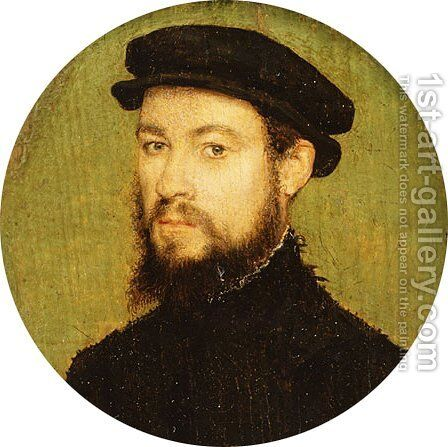 Portrait of a Man ca 1545 by Edward William Cooke - Reproduction Oil Painting