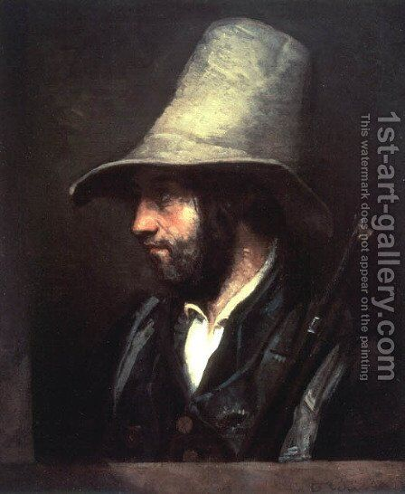 Portrait of a Hunter by Gustave Courbet - Reproduction Oil Painting