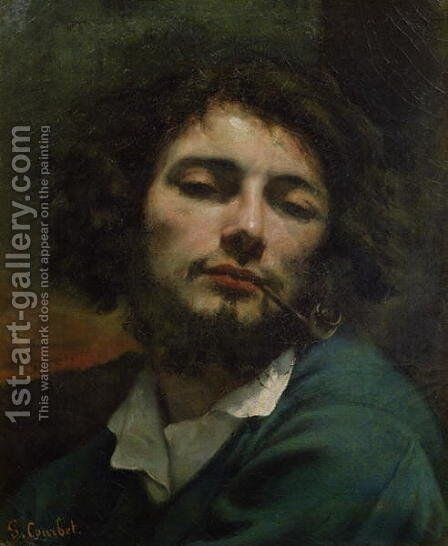 Self Portrait or The Man with a Pipe 1846 by Gustave Courbet - Reproduction Oil Painting