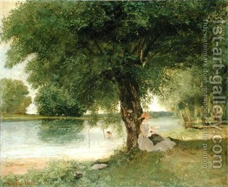 The Charente at Port Bertaud 1862 by Gustave Courbet - Reproduction Oil Painting