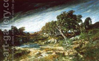 The Gust of Wind 1865 by Gustave Courbet - Reproduction Oil Painting