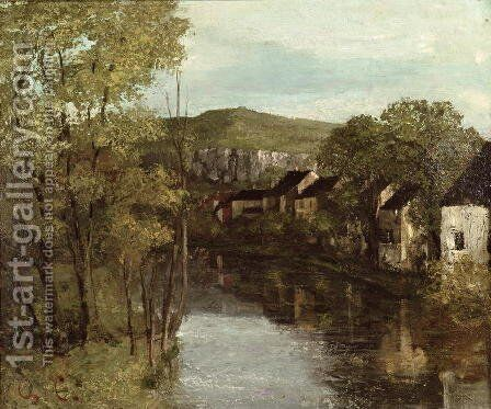 The Reflection of Ornans 1872 by Gustave Courbet - Reproduction Oil Painting