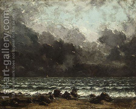 The Sea 1873 by Gustave Courbet - Reproduction Oil Painting