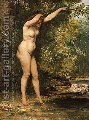 The Young Bather 1866 by Gustave Courbet - Reproduction Oil Painting
